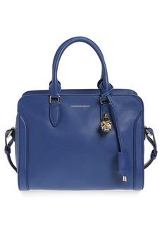 Alexander McQueen 'Small Padlock' Calfskin Leather Duffel Bag