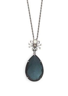 Alexander McQueen Spider and Swarovski crystal necklace