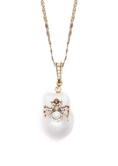 Alexander McQueen Spider crystal and pearl necklace