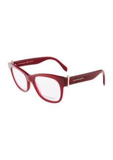 Alexander McQueen Square Acetate Optical Glasses