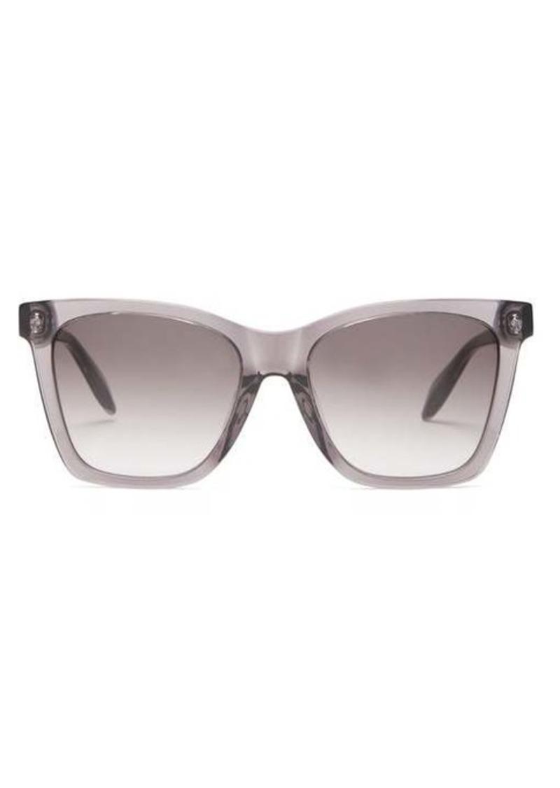 Alexander McQueen Square acetate sunglasses