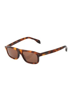 Alexander McQueen Square Havana Sunglasses