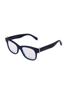 Alexander McQueen Square Plastic Optical Glasses