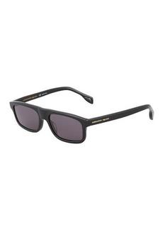 Alexander McQueen Square Solid Sunglasses