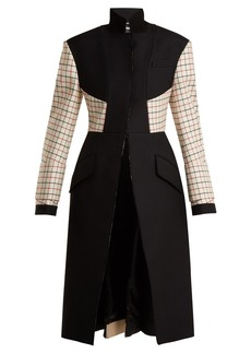 Alexander McQueen Stand-collar wool-blend coat
