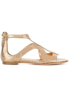 Alexander McQueen strappy sandals - Metallic