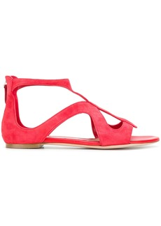 Alexander McQueen strappy sandals - Red
