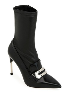 Alexander McQueen Stretch-Leather Sock Booties