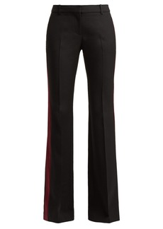 Alexander McQueen Striped crepe bootcut trousers