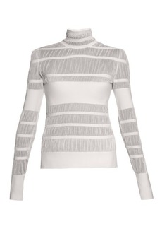 Alexander McQueen Striped-knit high-neck sweater