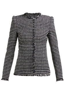 Alexander McQueen Striped single-breasted tweed jacket
