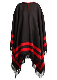Alexander McQueen Striped wool-blend cape