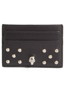 Alexander McQueen Studded Buffalo Leather Card Holder