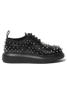 Alexander McQueen Studded flatform leather brogues