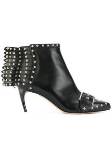 Alexander McQueen studded fringe heeled ankle boots - Black