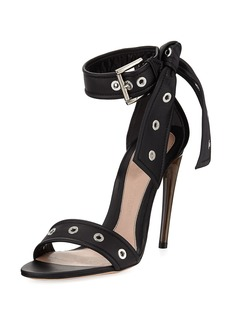 Alexander McQueen Studded Leather Ankle-Tie Sandals