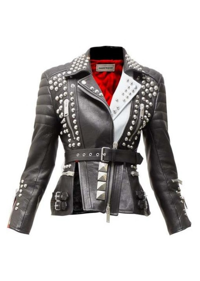 Alexander McQueen Studded leather biker jacket