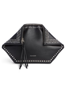 Alexander McQueen Studded Leather Butterfly Pouch