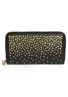 Alexander McQueen Studded Leather Continental Wallet