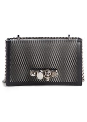 Alexander McQueen Studded Leather Crossbody Knuckle Bag