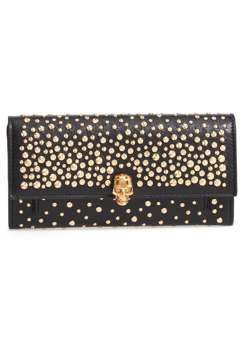 Alexander McQueen Studded Leather Wallet on a Chain