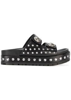 Alexander McQueen studded platform sandals - Black