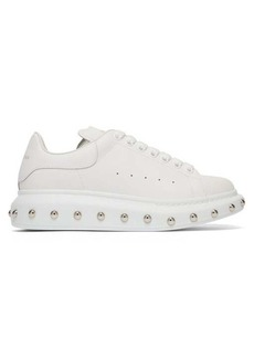 Alexander McQueen Studded raised-sole leather trainers