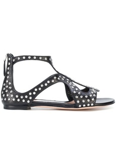 Alexander McQueen studded sandals - Black