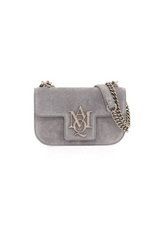 Alexander McQueen Suede Chain Flap Satchel Bag