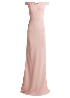 Alexander McQueen Sweetheart-neckline off-the-shoulder crepe gown