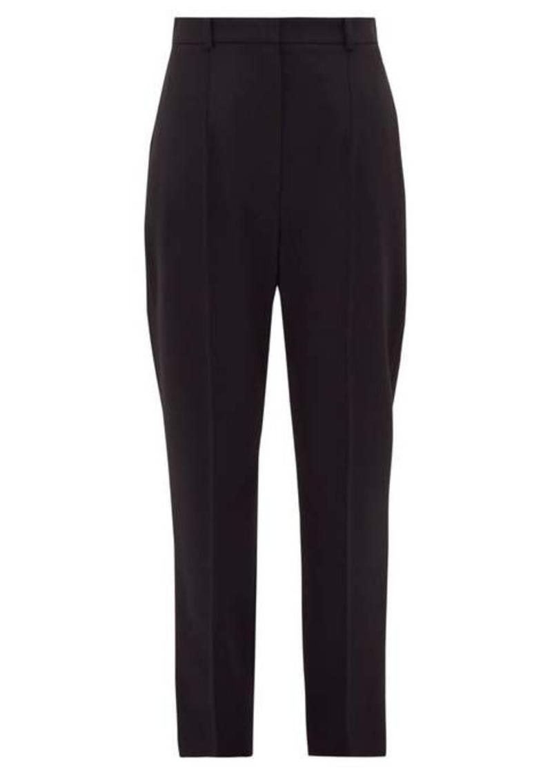 Alexander McQueen Tailored grain-de-poudre wool cigarette trousers