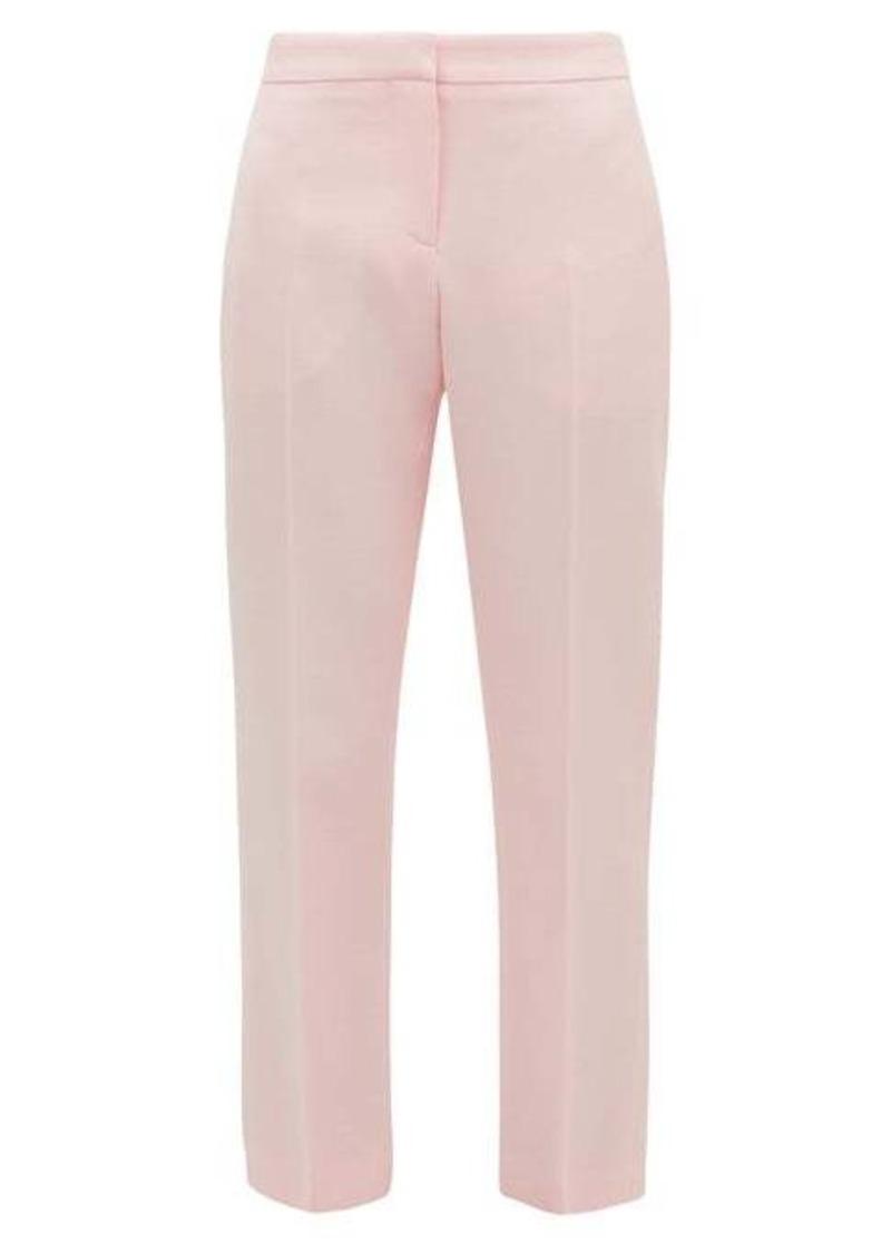Alexander McQueen Tailored wool-blend cigarette trousers
