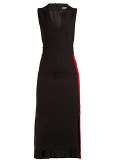 Alexander McQueen Striped wool midi dress
