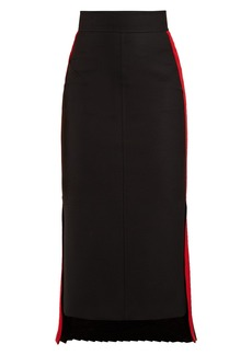 Alexander McQueen Tailored wool-blend pencil skirt