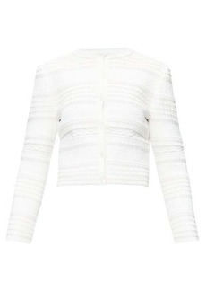 Alexander McQueen Jacquard-knit cardigan