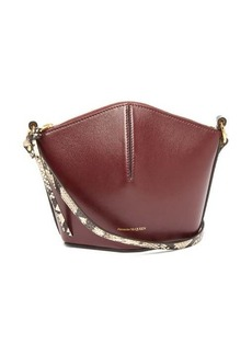 Alexander McQueen The Bucket mini leather cross-body bag