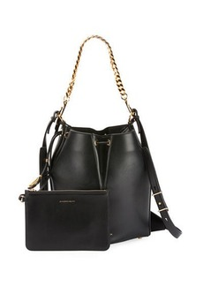 Alexander McQueen The Bucket Shiny Calf Shoulder Bag - Golden Hardware