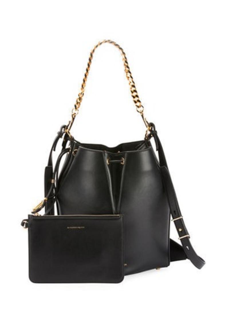Alexander McQueen The Bucket Shiny Calf Shoulder Bag - Golden Hardware