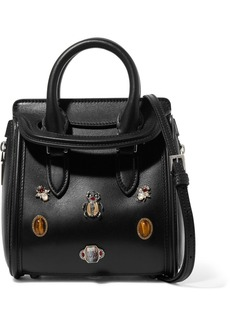 Alexander McQueen The Heroine mini embellished leather shoulder bag