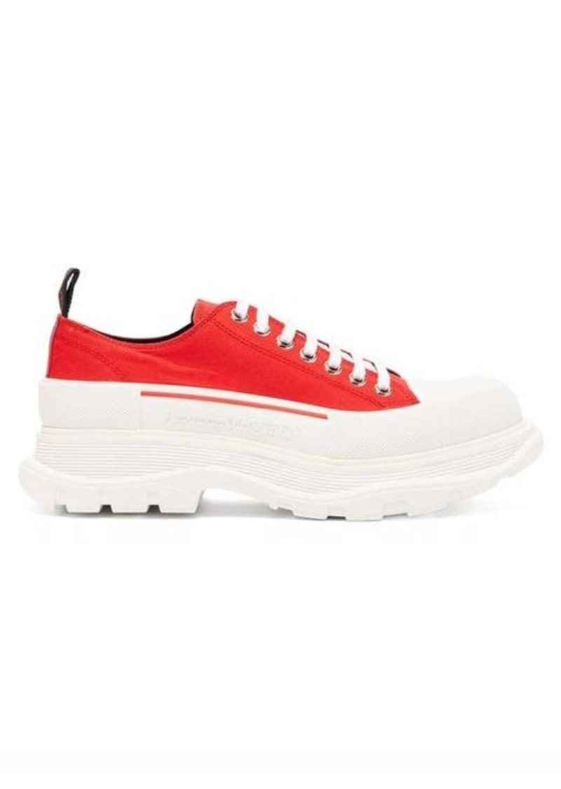 Alexander McQueen Tread-sole low-top canvas trainers