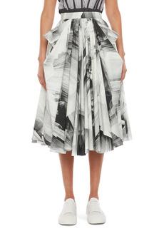 Alexander McQueen Tulle Print Cotton Skirt