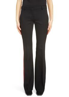 Alexander McQueen Tuxedo Stripe Wool Blend Pants