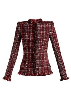 Alexander McQueen Tweed collarless jacket