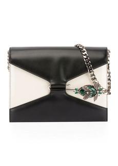 Alexander McQueen Two-Tone Pin Shoulder Bag