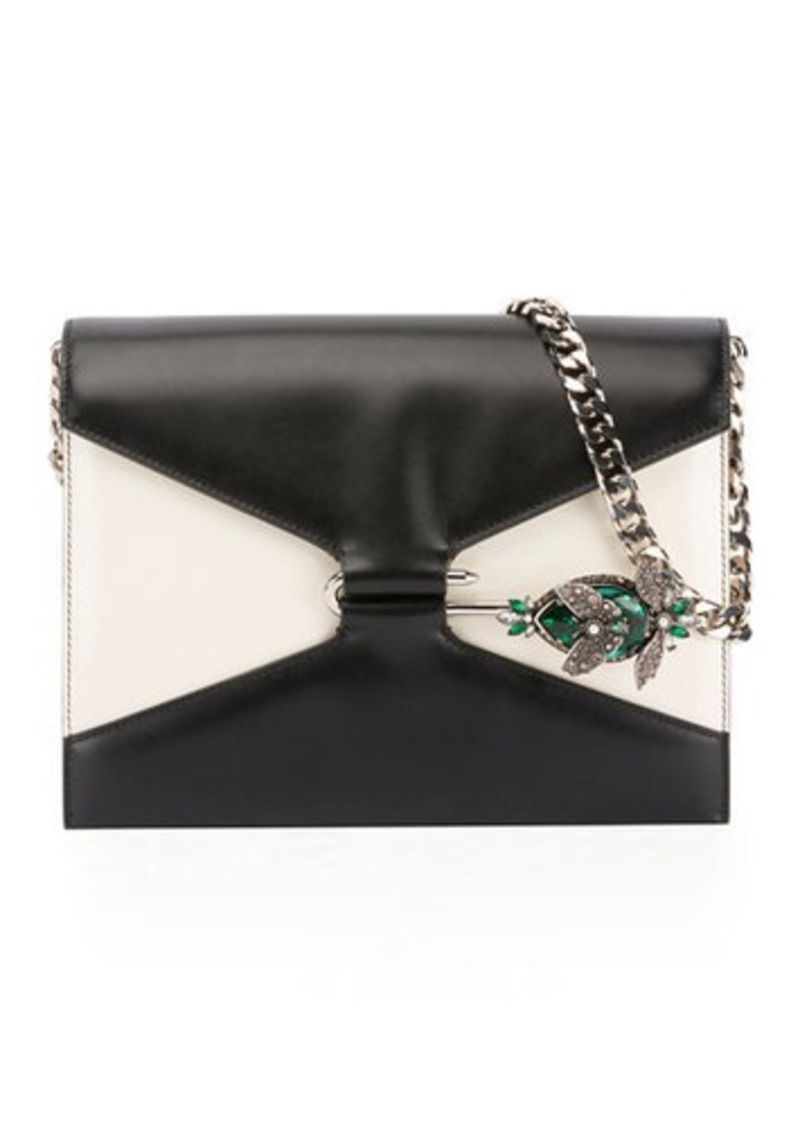 Alexander McQueen Two-Tone Pin Shoulder Bag