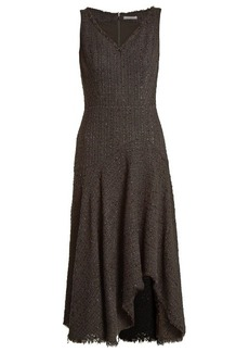 Alexander McQueen V-neck sleeveless tweed dress
