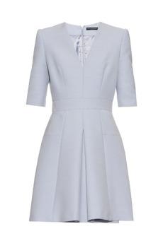 Alexander McQueen V-neck wool and silk-blend dress