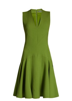 Alexander McQueen V-neck wool-blend sleeveless dress