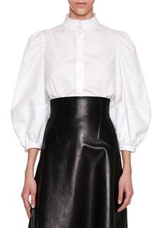 Alexander McQueen Victorian Full-Sleeve Blouse