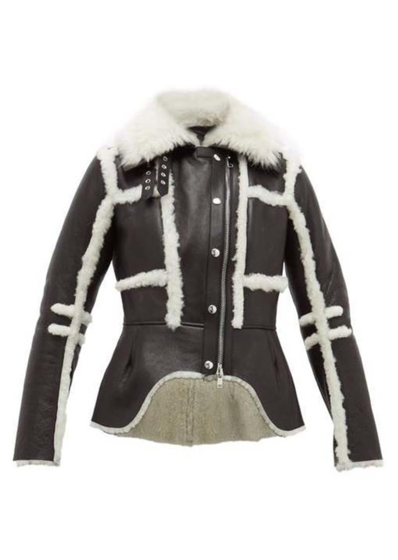 Alexander McQueen Waterfall shearling jacket